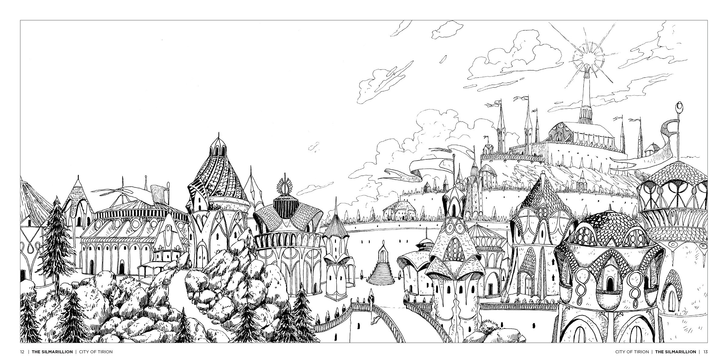 The Silmarillion coloring #2, Download drawings