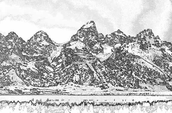 The Teton Range clipart #19, Download drawings