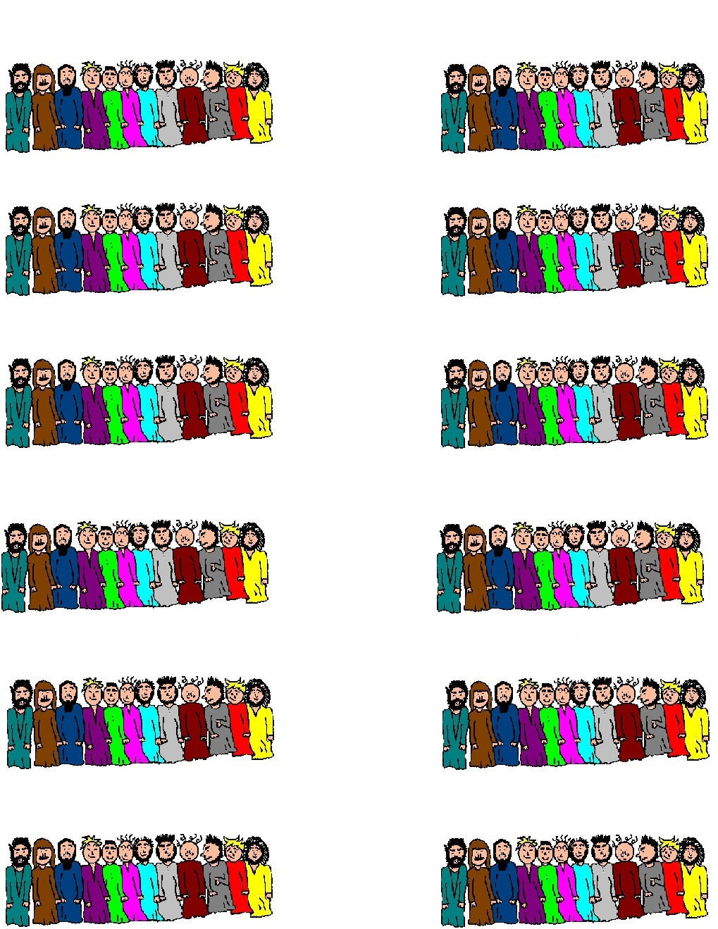 The Twelve Apostles clipart #15, Download drawings