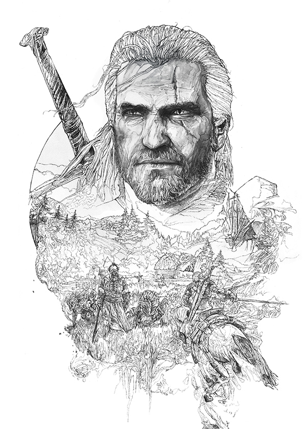 The Witcher coloring #18, Download drawings