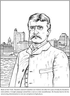 Theodore Roosevelt coloring #3, Download drawings