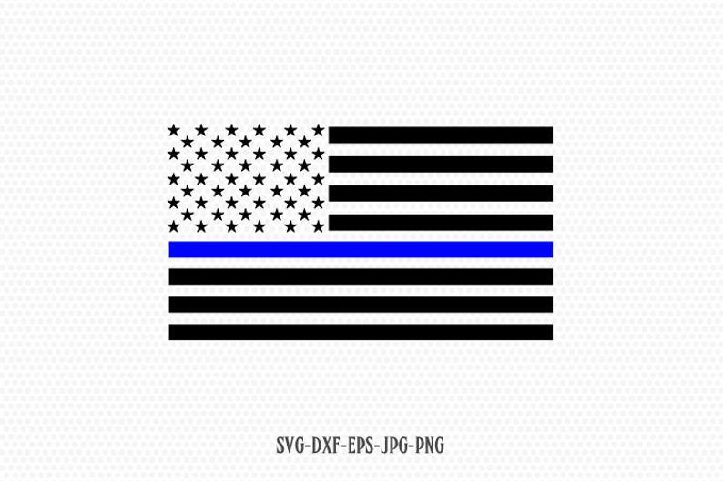 thin blue line flag svg #81, Download drawings