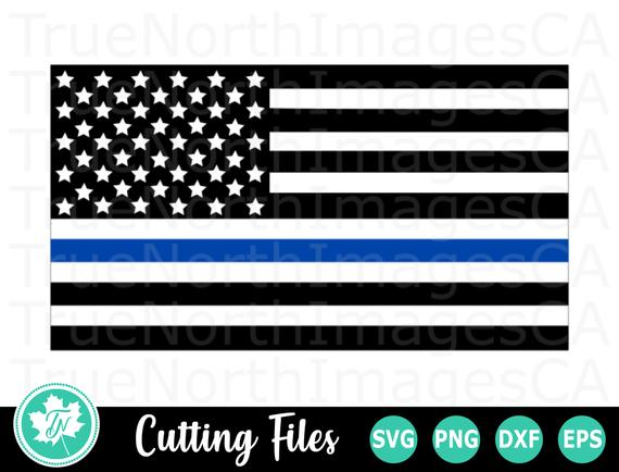 thin blue line flag svg #90, Download drawings