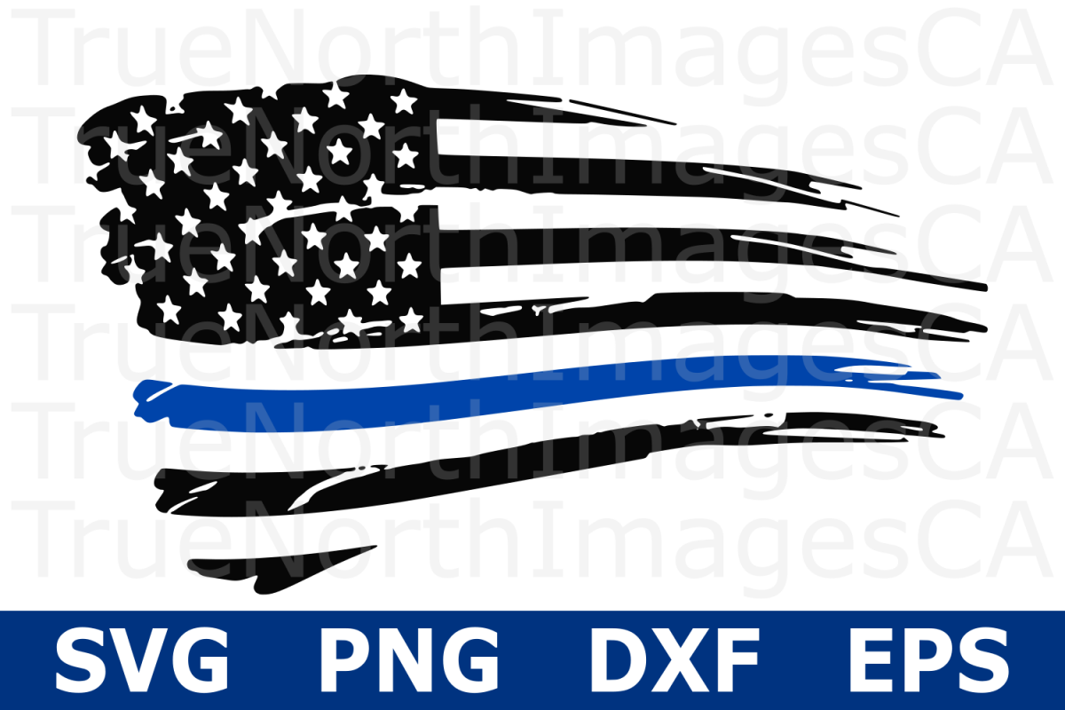 thin blue line flag svg #89, Download drawings
