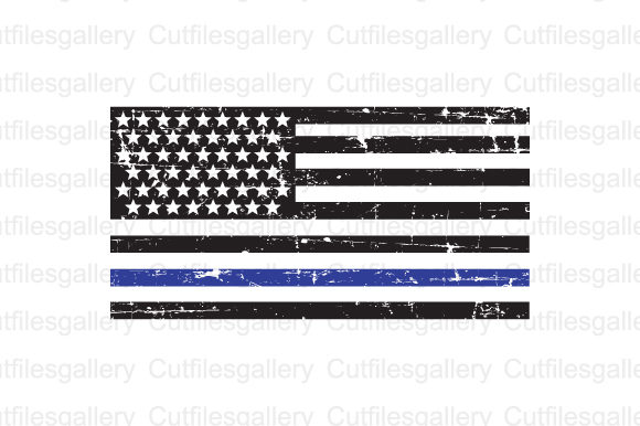 thin blue line flag svg #88, Download drawings
