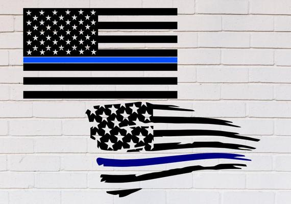 thin blue line flag svg #85, Download drawings