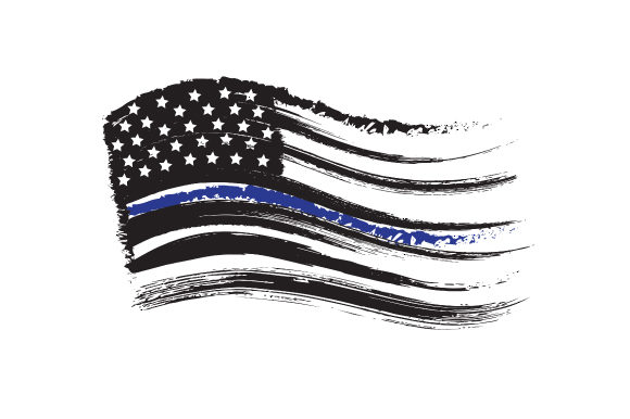 thin blue line flag svg #84, Download drawings