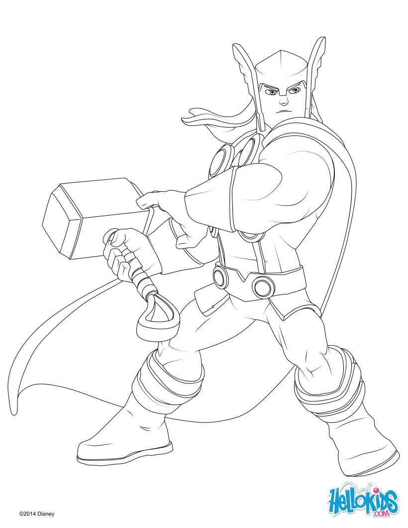 Thor coloring #6, Download drawings