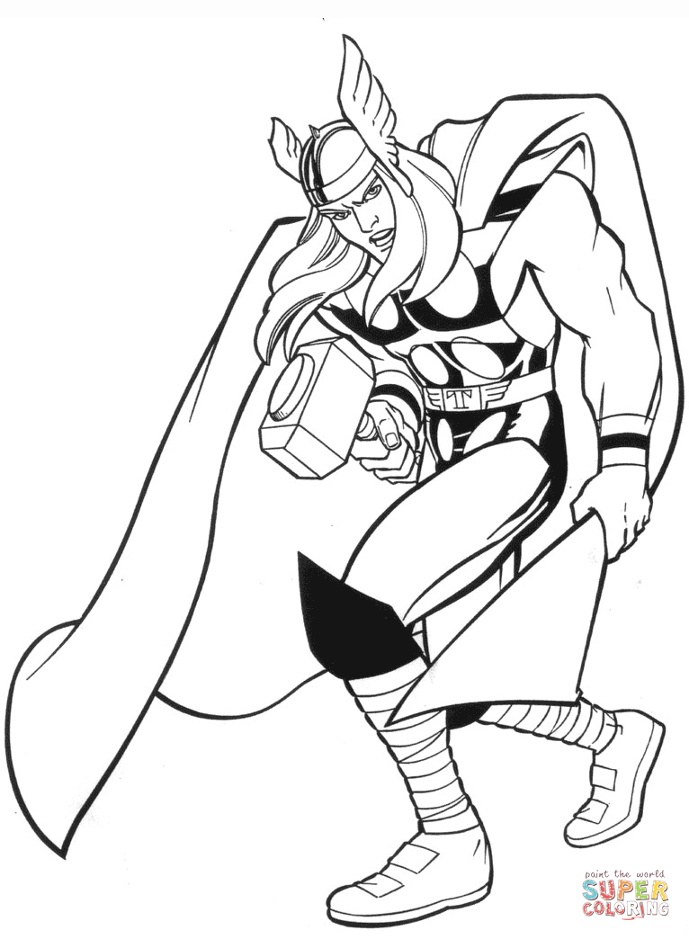 Thor coloring #13, Download drawings