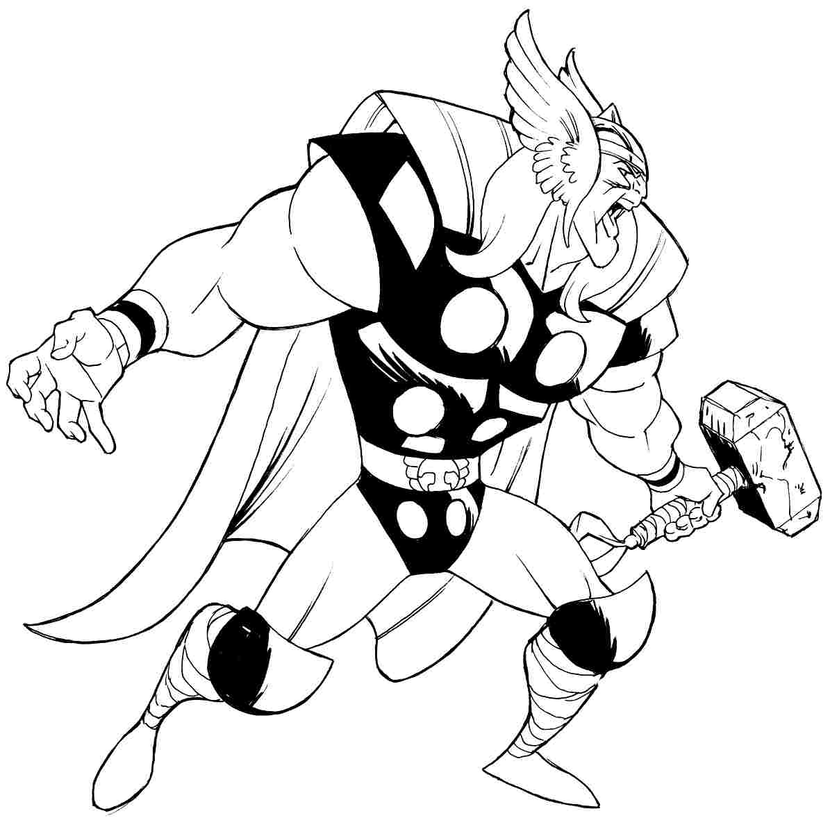 Thor coloring #1, Download drawings