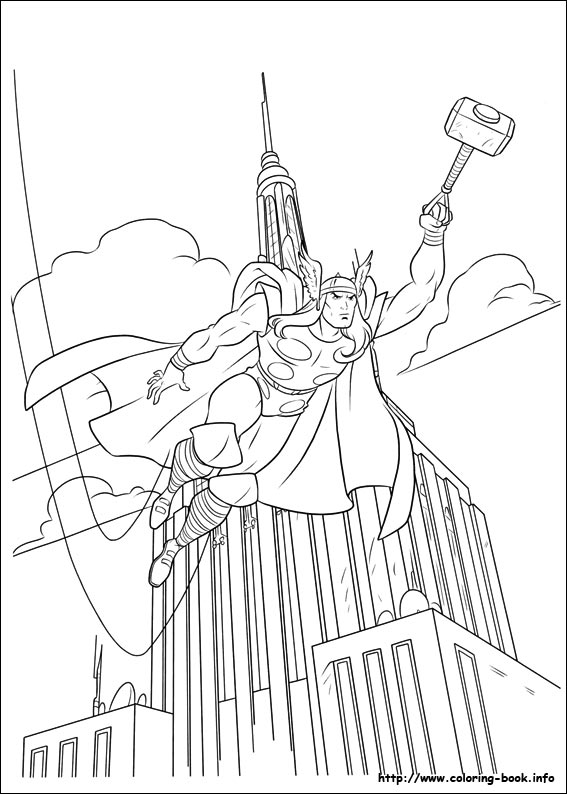 Thor coloring #2, Download drawings
