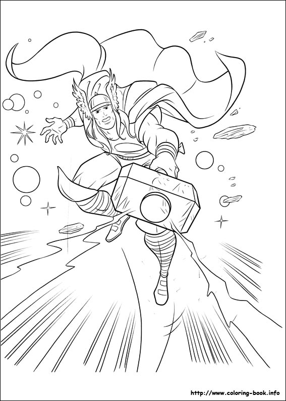 Thor coloring #8, Download drawings