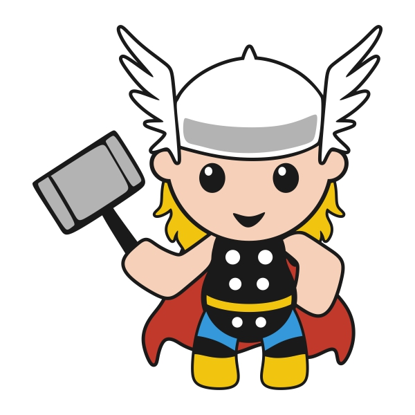 Thor svg #1, Download drawings