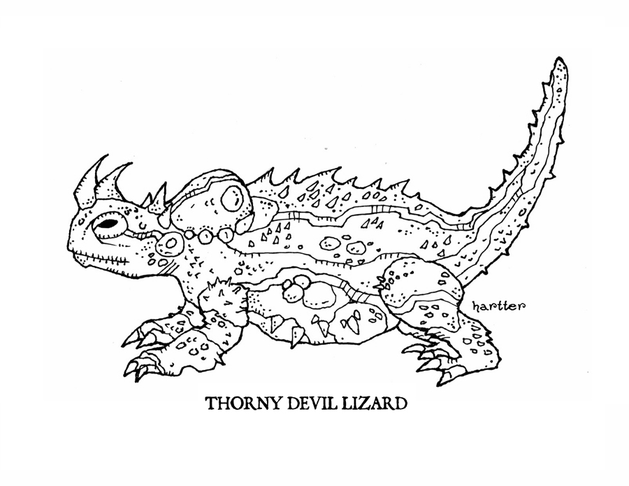 Thorny Devil clipart #2, Download drawings