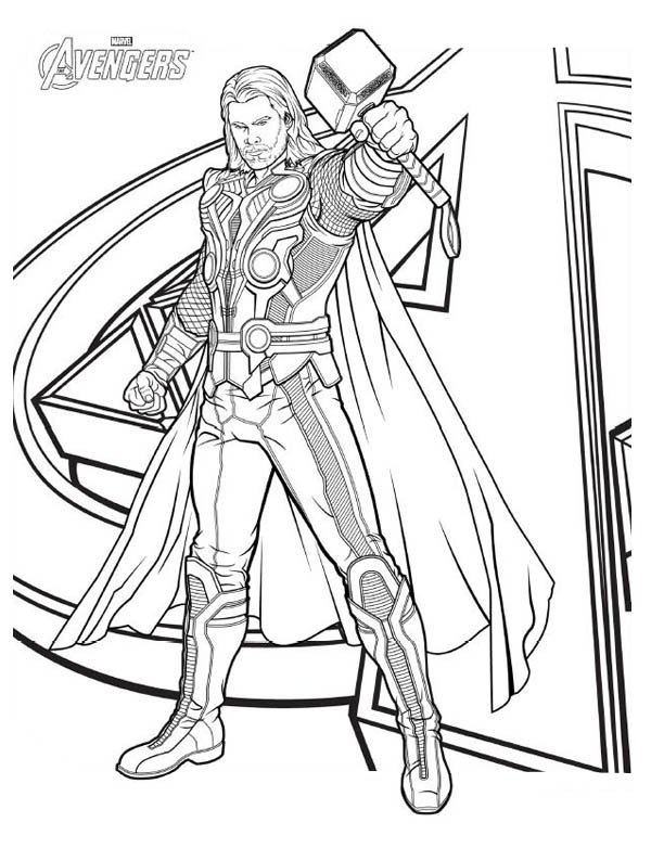 Thor coloring #12, Download drawings