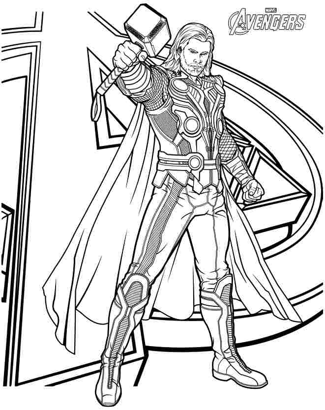 Thor coloring #7, Download drawings