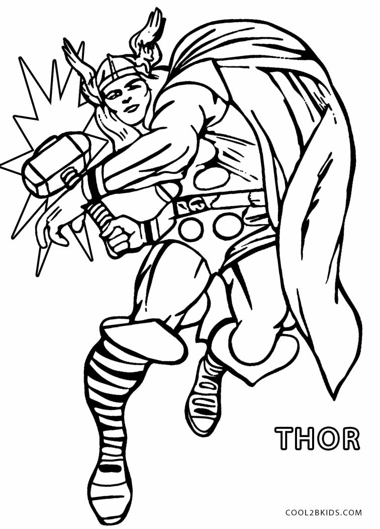 Thor coloring #5, Download drawings