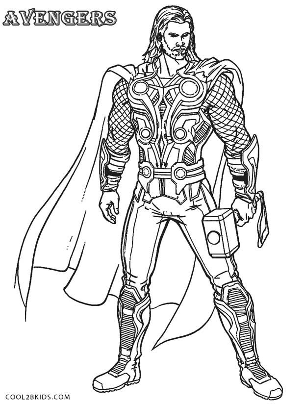 Thor coloring #4, Download drawings