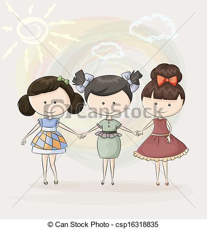 Three Sisters clipart #3, Download drawings