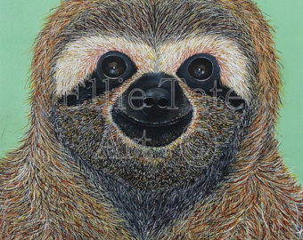 Three Toed Sloth svg #1, Download drawings