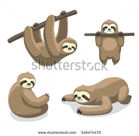 Three Toed Sloth svg #4, Download drawings