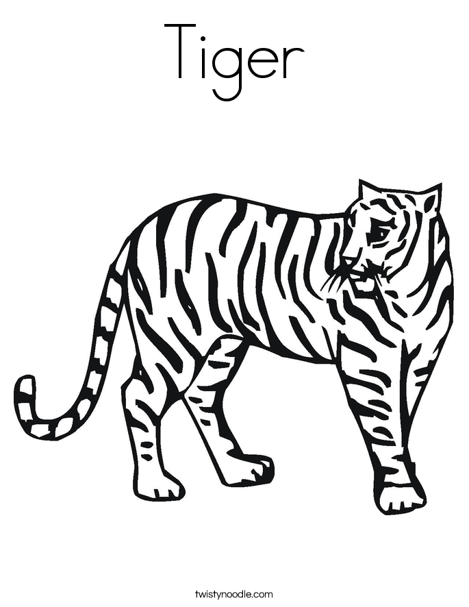 Tiiger coloring #19, Download drawings