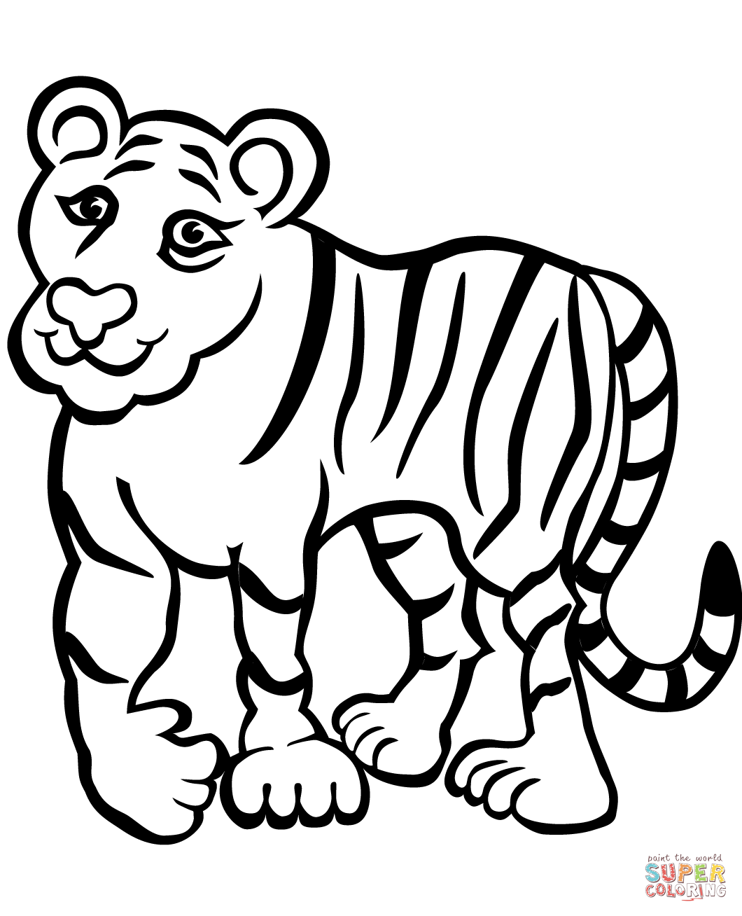 Tiiger coloring #13, Download drawings