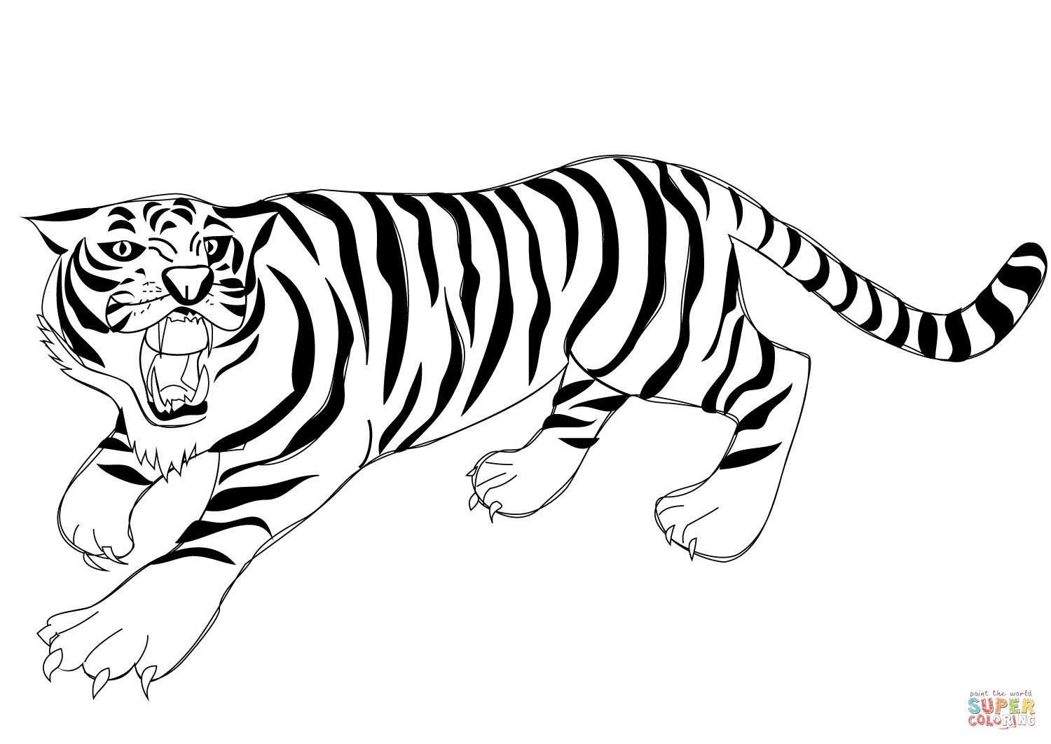 Tiiger coloring #3, Download drawings