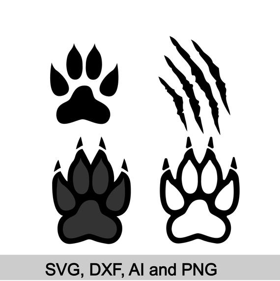 tiger paw svg #617, Download drawings
