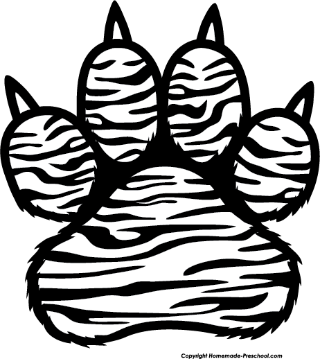 Tiger Print clipart #3, Download drawings