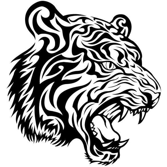 White Tiger svg #9, Download drawings