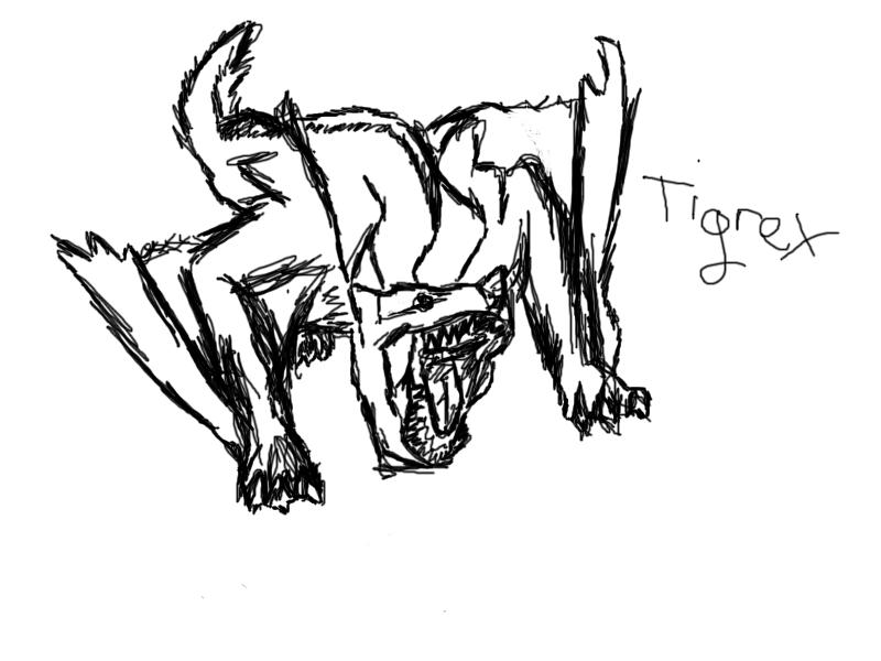 Tigrex coloring #7, Download drawings