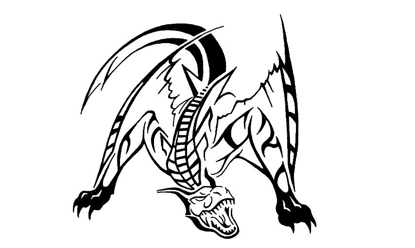 Tigrex coloring #4, Download drawings