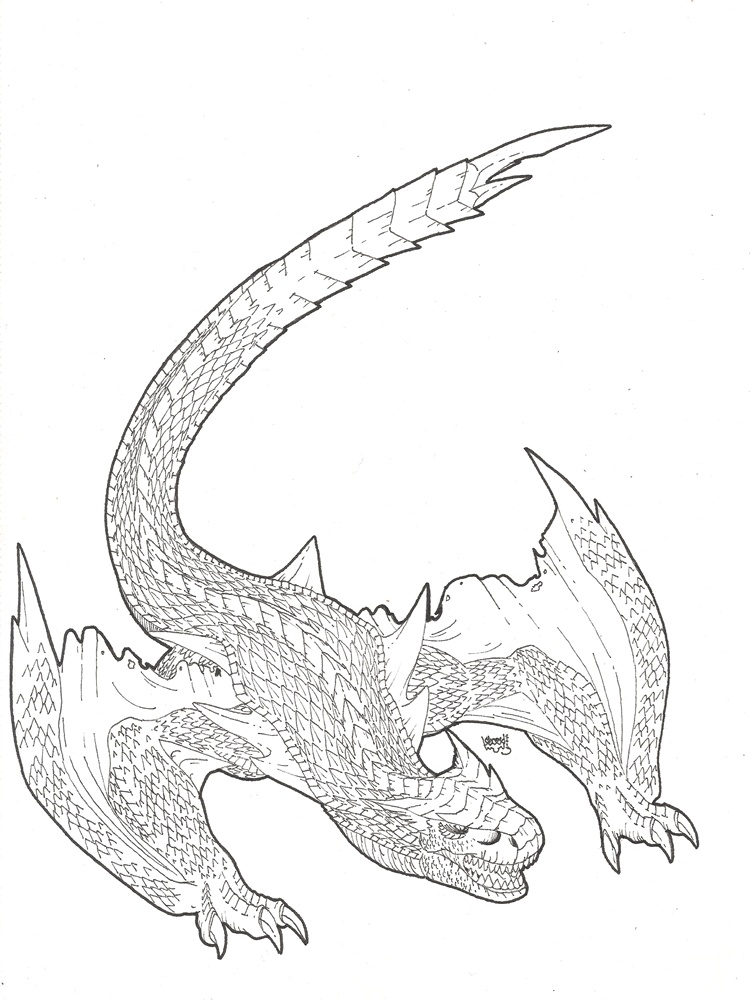Tigrex coloring #5, Download drawings