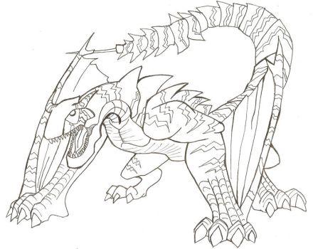 Tigrex coloring #10, Download drawings
