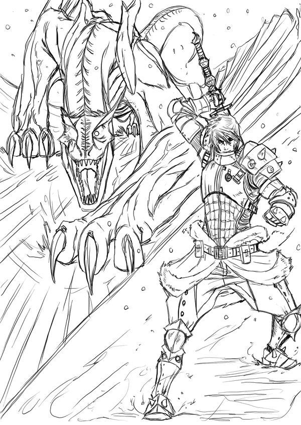 Tigrex coloring #3, Download drawings