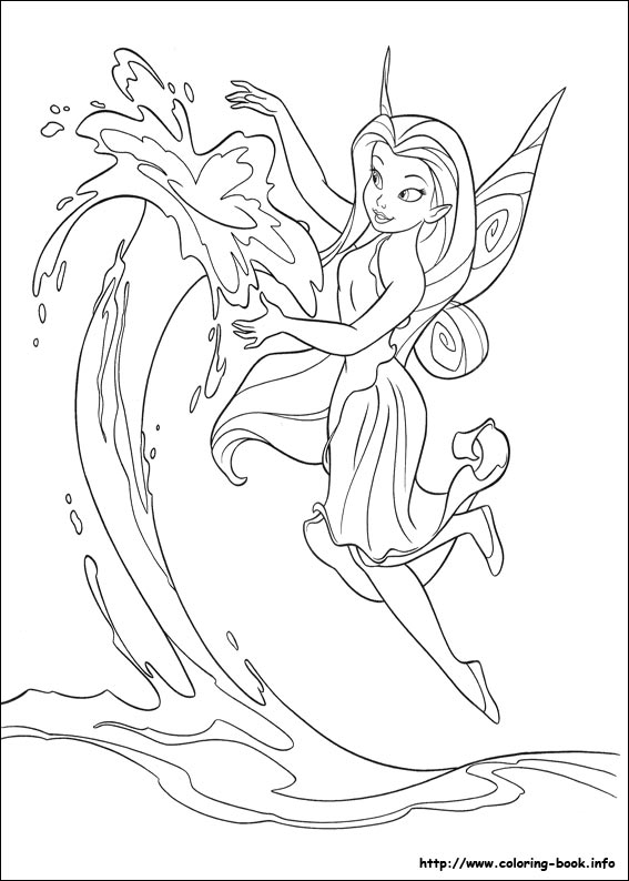Tinker Bell coloring #13, Download drawings