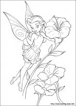 Tinker Bell coloring #2, Download drawings