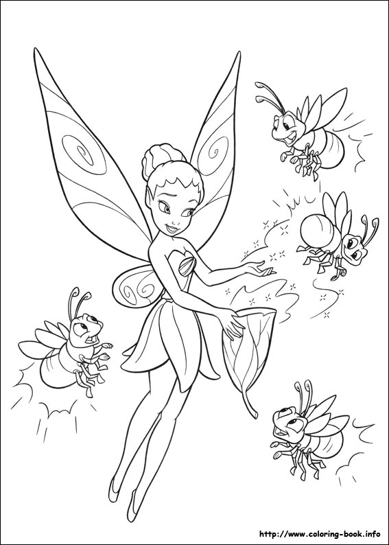 Tinker Bell coloring #6, Download drawings