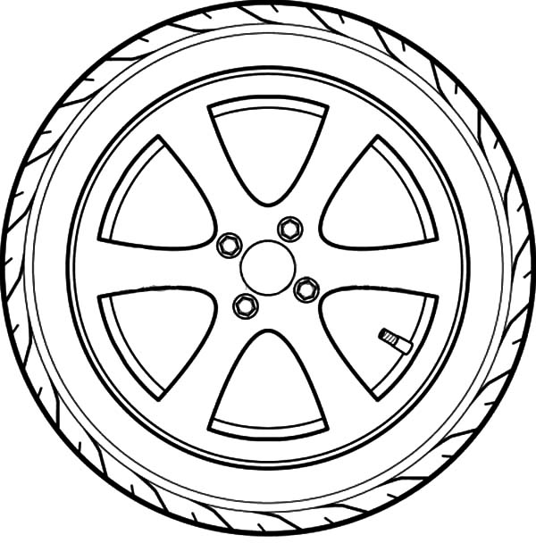 Tire coloring #19, Download drawings