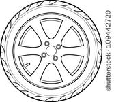 Tire coloring #15, Download drawings