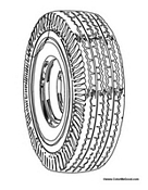 Tire coloring #9, Download drawings