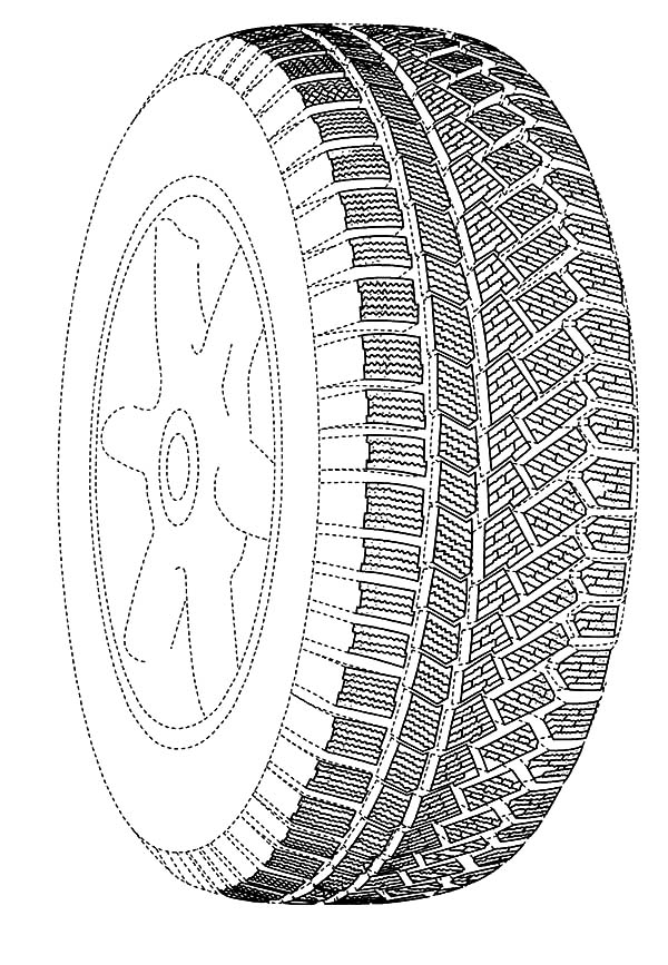 Tire coloring #3, Download drawings