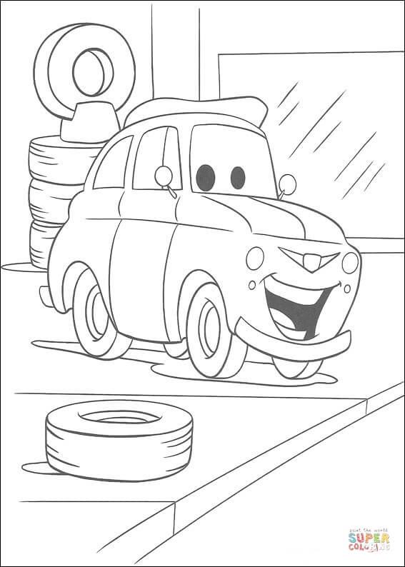 Tire coloring #6, Download drawings