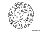 Tire coloring #18, Download drawings