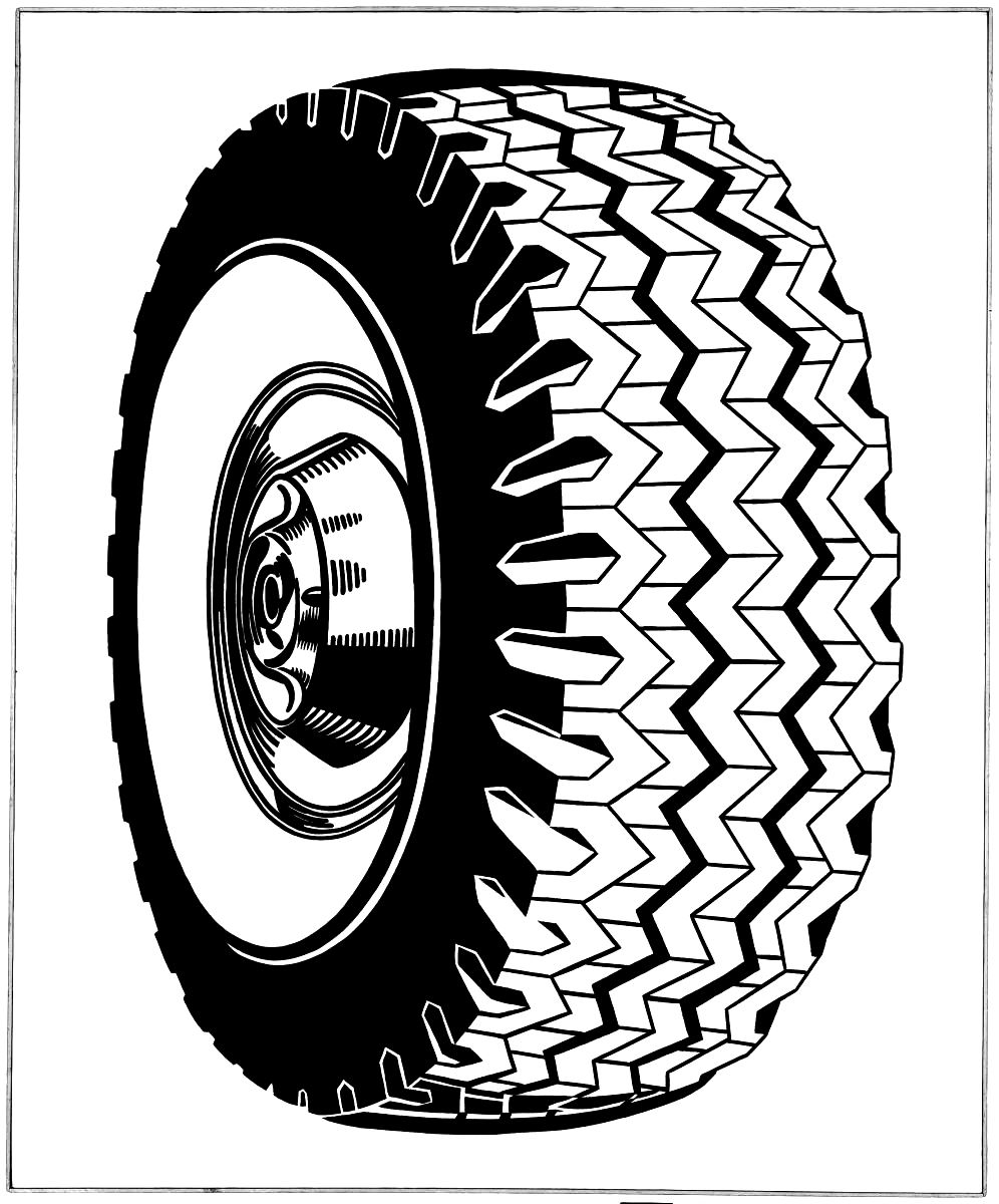Tire coloring #11, Download drawings