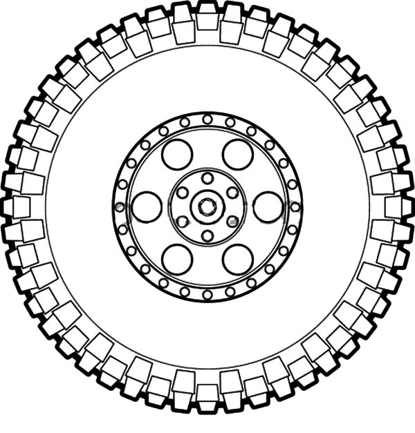 Tire coloring #16, Download drawings