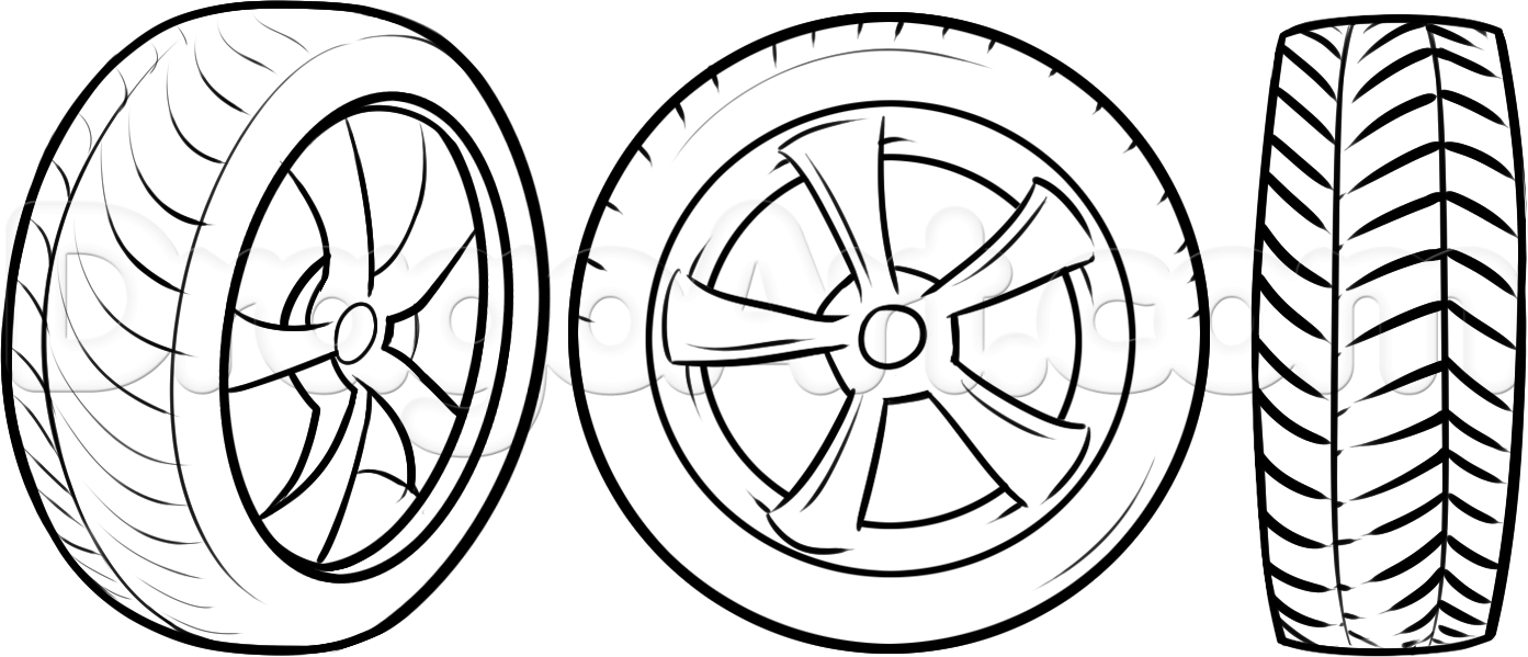 Tire coloring #12, Download drawings