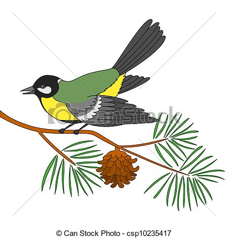 Titmouse clipart #3, Download drawings