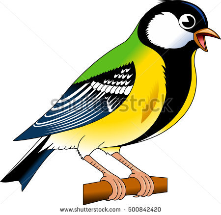 Titmouse clipart #2, Download drawings